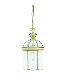 Suspension 18 cm Lanterns, en laiton poli et verre