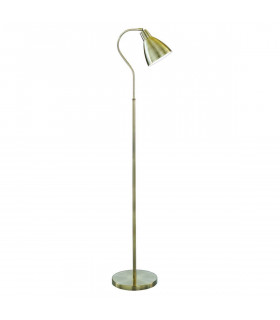 Lampadaire Adjustable 145 cm, en laiton antique
