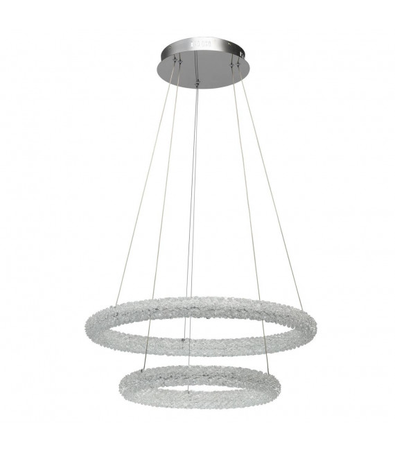 Suspension design chromée Crystal 150 Cm