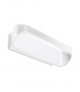 Applique LED Oval, aluminium blanc mat, 18 cm