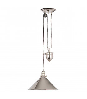 Suspension Provence max 180 cm, nickel poli