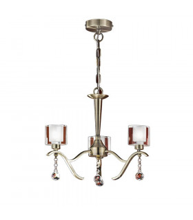 Suspension en bronze en cristal Theory 3 Ampoules