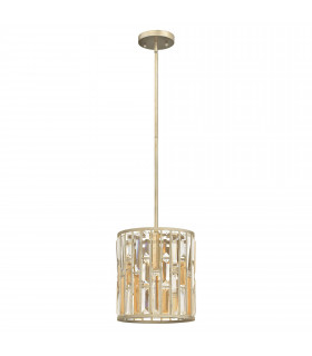 Suspension Gemma, bronze et cristal, 1 ampoule