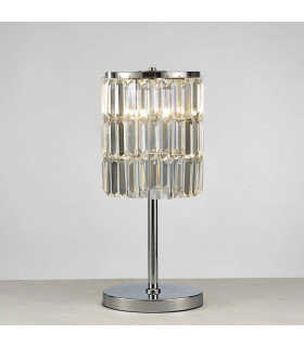 Lampe de Table Torre cristal Curtain 3 Ampoules chrome poli