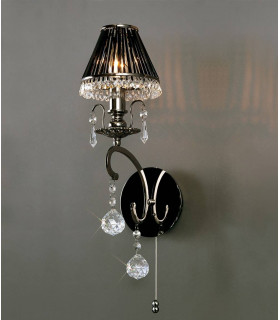 Applique murale Pescara 1 Ampoule chrome noir/cristal