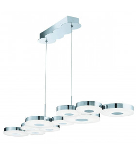 Suspension 10 LED Chromia en chrome et acrylique