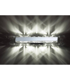 Applique murale Galaxy Horizontal 3W LED 6000K chrome poli/cristal
