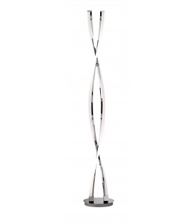 Lampadaire IDANA chrome 2 ampoules LED