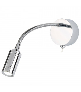 Applique/liseuse LED, chrome
