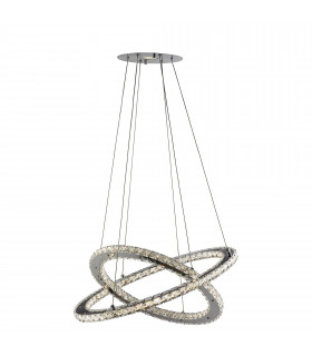 Suspension 24W Clover, en chrome et cristal